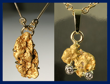 Lapland gold nuggets. Jewelry. | Taigakoru Oy verkkokauppa