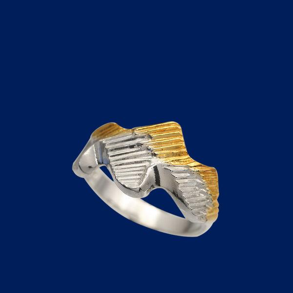 Hopeinen sormus naiselle. Revontuli - korut  20a6f13cc9